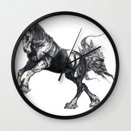 Keegan Jewell, Friesian Stallion Wall Clock