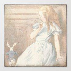 Vintage Alice in Wonderland Canvas Print