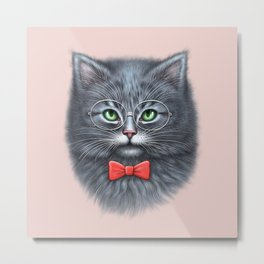 Meooowwwww......( i'm the coolest cat in the world.....hahaha..... ) Metal Print