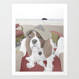 Spaniel at the Beach Art Print