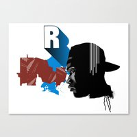 rap Canvas Prints featuring Rap by David Navascues