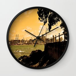 Auckland from Mission Bay Wall Clock