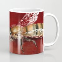 bees Mugs featuring Bees by Dana Martin