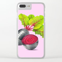 let the beet drop Clear iPhone Case