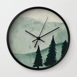 Green Valley Wall Clock