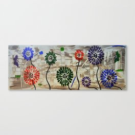 Colorful Garden Abstract Acrylic Painting By Saribelle Canvas Print
