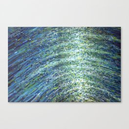 Shimmerin Ocean Wave Reflections Canvas Print