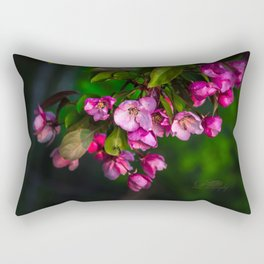 Flowering Crab Petals Rectangular Pillow