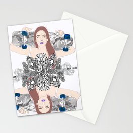 She Was a Skater Gurl  Stationery Cards