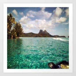 Bora Bora Tahiti, Take Me on a Jet Ski Art Print