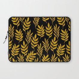 Golden leaf pattern Laptop Sleeve