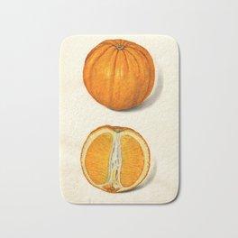 Vintage Sliced Orange Illustration Bath Mat