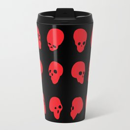 redhead - red on black Travel Mug