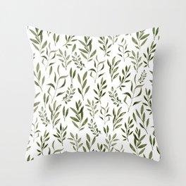 Eucalyptus - green leaves Throw Pillow