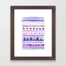 Pattern / Nr. 6 Framed Art Print