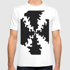 Puzzle White Mens Fitted Tee MEDIUM