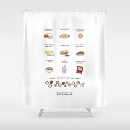 Foods of 30 Rock Shower Curtain