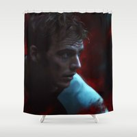 fight Shower Curtains featuring Fight by Kate Dunn