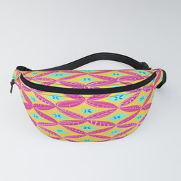 Pink yellow tropical pattern Fanny Pack