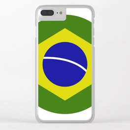 brazil flag Clear iPhone Case