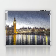 Westminster At Night Snow Laptop & iPad Skin