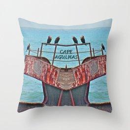 Cormorants Rest Throw Pillow