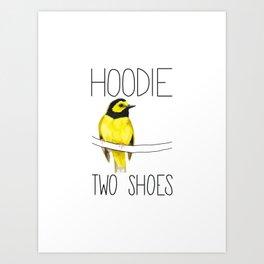 Hoodie Two Shoes (Hooded Warbler) Art Print