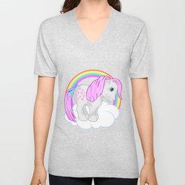 g1 my little pony snuzzle and butterscotch Unisex V-Neck