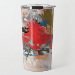 Abstract Expressionism Painting Travel Mug