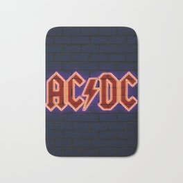 acdc neon art Bath Mat