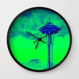 Space Needle (Seahawks Colors) Wall Clock