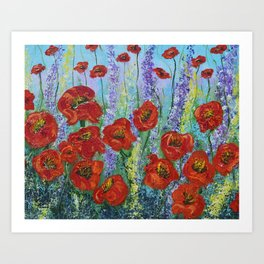 Poppy Insanity Art Print