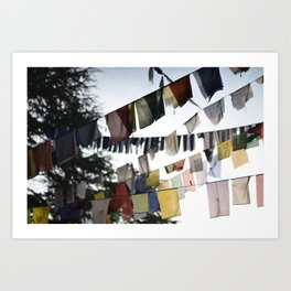 Flags of wisdom Art Print