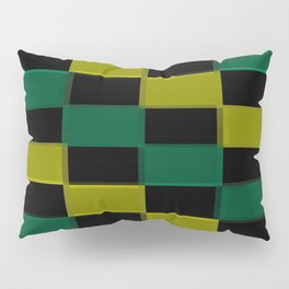 Green Checkerboard  Pillow Sham