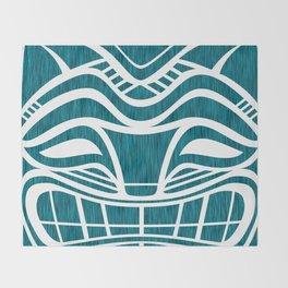 Polynesian Tiki Cat Throw Blanket