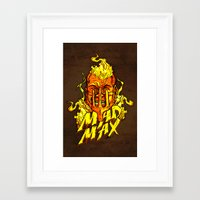 mad Framed Art Prints featuring Mad by Demonigote
