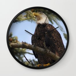 Bald eagle at La Push Wall Clock