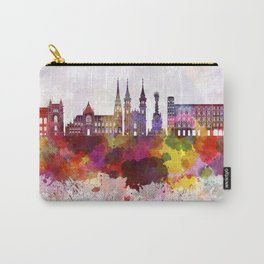 Linz skyline in watercolor background Carry-All Pouch