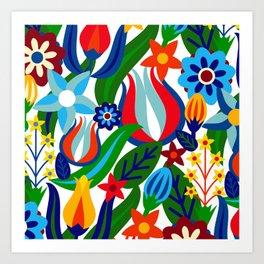 Turkish garden Art Print