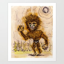 Howlin' Howlie Art Print