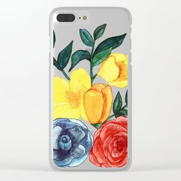 Watercolor Flower Bouquet Clear iPhone Case