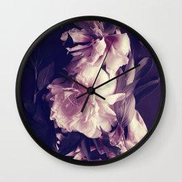 Pink peonies 5 Wall Clock