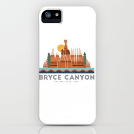 Bryce Canyon National Park Utah Graphic iPhone Case