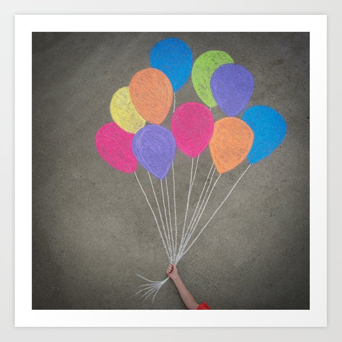 Up up and away Art Print