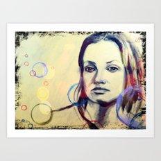 Golden Girl Art Print