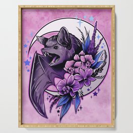 Bat and Orchids Serving Tray