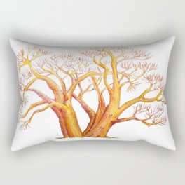 baobab exotic tree madagascar illustration with watercolor pencils Rectangular Pillow