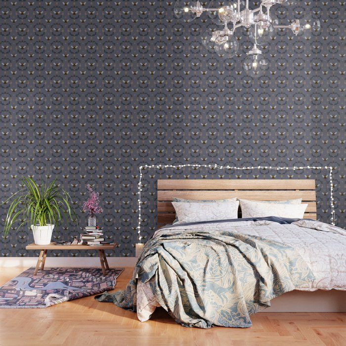 Ode to the Bumblebee (in lavender) Wallpaper