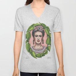 Frida in Pothos Unisex V-Neck