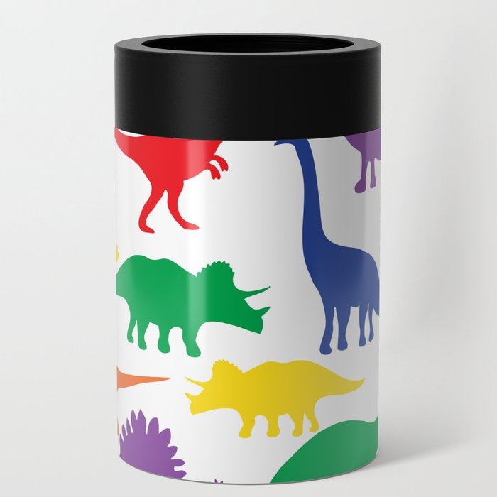 Dinosaurs - White Can Cooler
